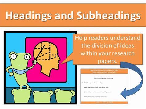 headings  subheadings   essay subheadings