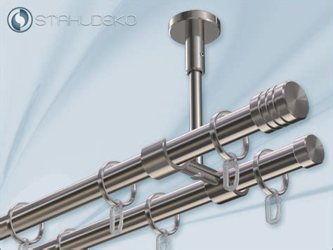 gardinenstange zweilaufig deckenmontage gardinenstange zweil 228 ufig mit deckenhalterung universal 20
