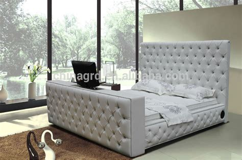 Beds With Tvs In Footboard by Alibaba Tufted Designs King Size Leather Bed With Tv In Footboard G922 Buy King Size Leather