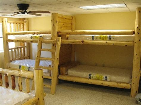 quad bunk beds quad bunks st louis by carolina logcrafter