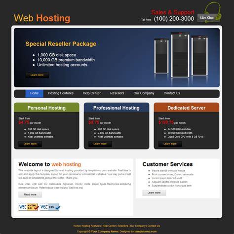 template  hosting