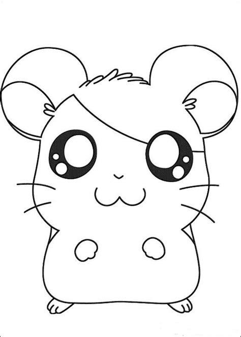 imagenes blanco y negro kawaii dibujos para colorear hamtaro 18 dibujos para colorear