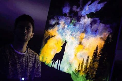 glow in the paint that works glow in the paint reveals surprises in paintings when