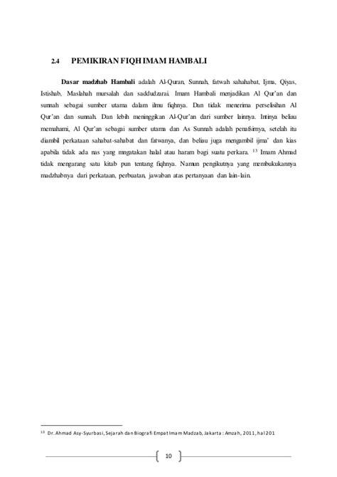 Seri Imam 4 Mazhab Imam Hambali 1 biografi dan pemikiran imam syafi i dan hambali