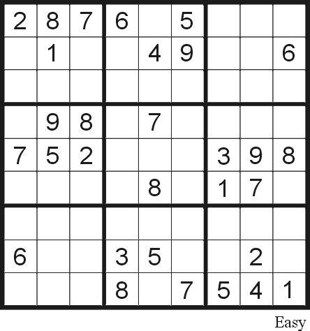 Printable Sudoku Printable Easy Sudoku Puzzles | sudoku puzzle 9 easy free printable puzzles
