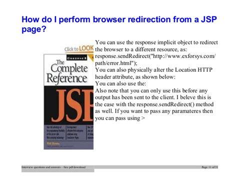 Jsp Tutorial Interview Questions | top jsp interview questions and answers job interview tips