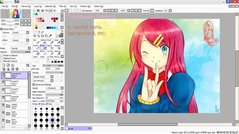 paint tool sai tutorial mewarnai tutorial paint tool sai tutorial mewarnai anime di paint
