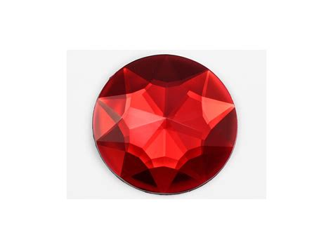 red gem 43mm red ruby h103 large self adhesive round jewels 2 pieces