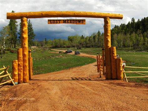 drive arch custom built ranch lodge entrance built anywhere in the