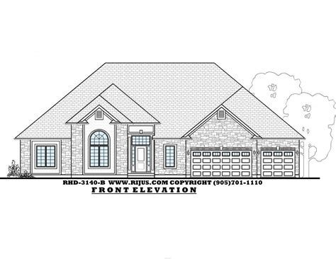 executive bungalow floor plans rijus home design ltd ontario house plans custom home designs niagara hamilton welland