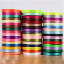10mm width multi colour cloth satin ribbons wedding
