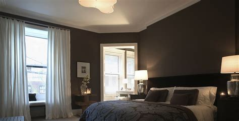 Dark Brown Bedroom Walls | dark brown bedroom transitional bedroom rees roberts
