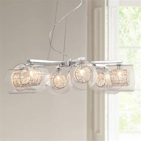 possini design possini design wire and glass cylinder chandelier 04030 ls plus
