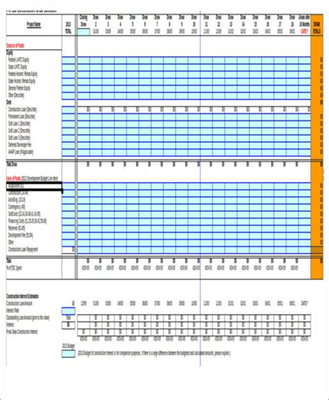 construction schedule excel template 7 excel construction schedule templates free premium