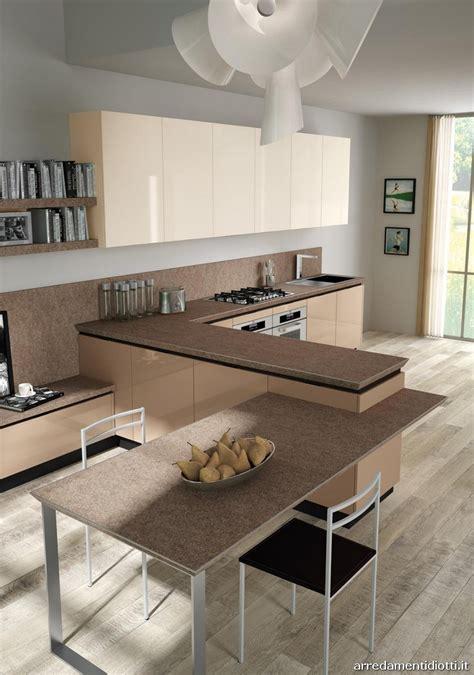 cucine con tavolo incorporato cucine moderne con tavolo incorporato idee creative di
