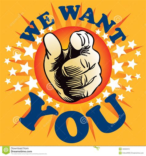 we want you stock vector image of wanted line type