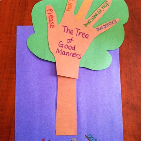 and craft the quot manners tree quot after it has been watered with