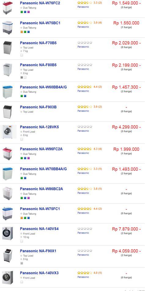 Daftar Mesin Cuci Panasonic harga mesin cuci panasonic terbaru februari 2018