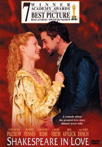shakespeare in love 1998 comedy movies full english shakespeare in love 1998 on collectorz com core movies