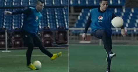 alexis sanchez rafael dos anjos watch alexis sanchez and sergio aguero take on delivery