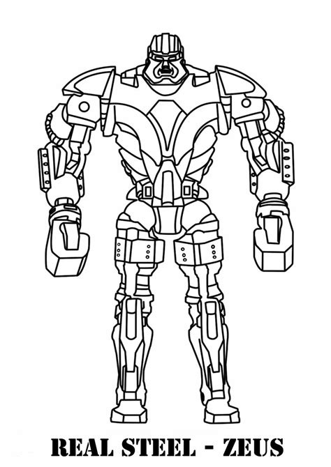 Steel Coloring Pages real steel coloring pages coloring pages