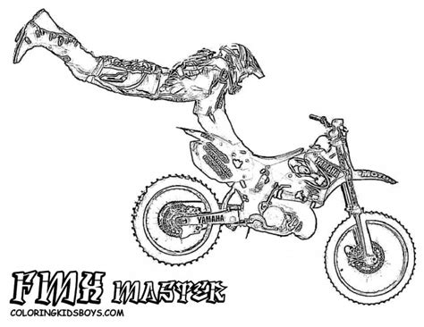 Dirt Bike Coloring Pages For Kids Coloring Home Dirt Bike Pictures To Color