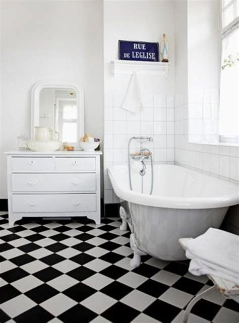 bathroom tiles black and white ideas 31 black and white checkered bathroom tile ideas and pictures