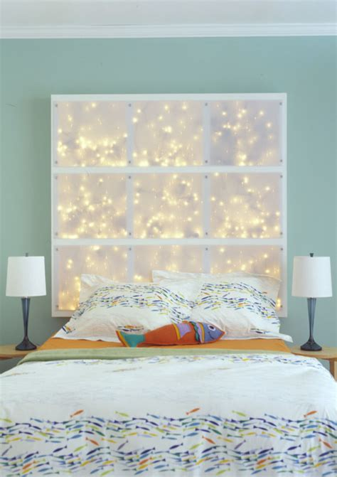 diy headboard for diy headboard with leds shelterness