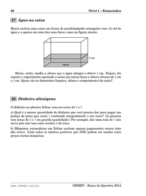 Banco de questões da OBMEP 2014 by Carlos Silva - Issuu