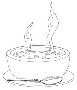 soup template a bowl of soup coloring page coloring pages mandela
