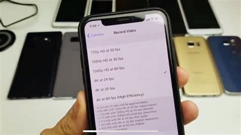 iphone x how to change resolution 4k 60fps 4k 1080p 60fps 1080p etc