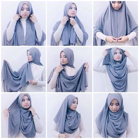 tutorial pashmina denim elegant hijab styling ideas for school girls girls hijab