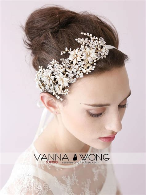 Vintage Bridal Hair Bands by 2015 Vintage Hair Band Sparkling Crystals Flowers