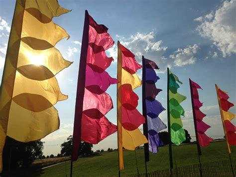 Themes Hire Glastonbury   the event flag hire company uk colourful festival flags