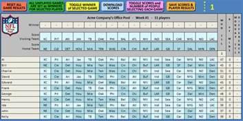 Nfl Office Football Pool Picks Ed S Nfl Office Pool Spreadsheet Calculator