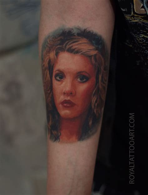 stevie nicks color arm portrait tattoo realism