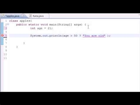 youtube tutorial java programming java programming tutorial 20 conditional operators