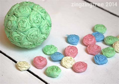 Crepe Paper Crafts - flower craft ideas wonderful summer s