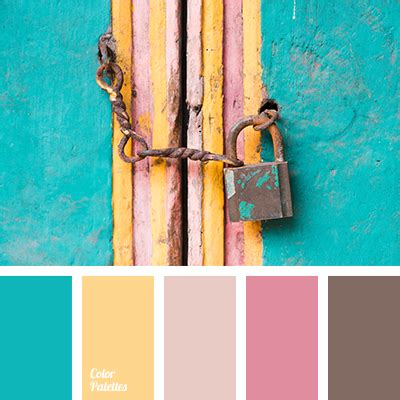 what color matches with pink and blue turquoise color palette ideas
