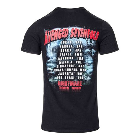 T Shirt Avenged Sevenfold Black avenged sevenfold buried alive tour t shirt official band