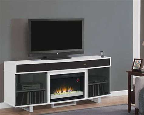 classic flame fireplace tv console enterprise in black ts