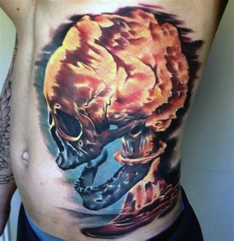 atomic bomb tattoo designs 60 badass chest tattoos for manly ink design ideas