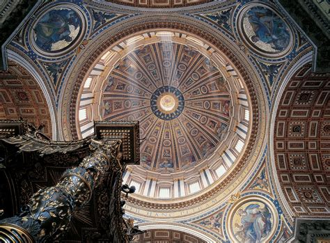 cupola vaticano the cupola in st s basilica vatican city