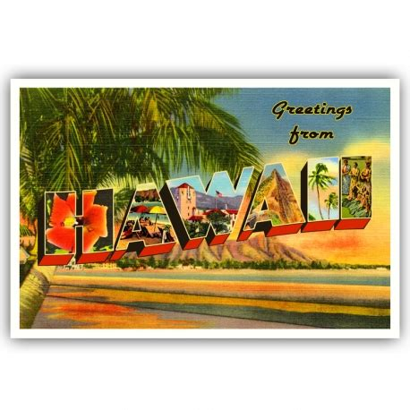 printable hawaiian postcards greetings from hawaii postcard