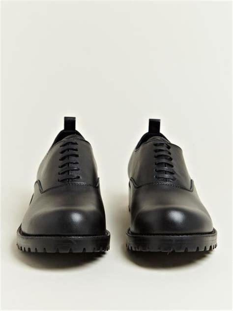 comme des garcons shoes mens comme des gar 231 ons mens cowhide leather shoes in black for