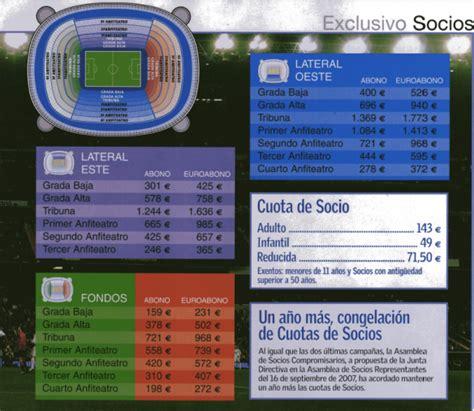 precio de entradas real madrid entradas socios y aficionados del real madrid cf