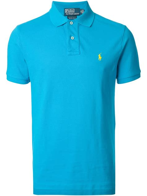blus kutubaru polos lyst polo ralph polo shirt in blue for