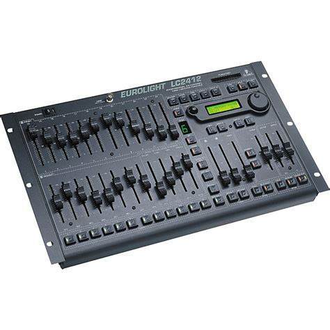 lighting console behringer eurolight lc2412 24 channel dmx lighting console