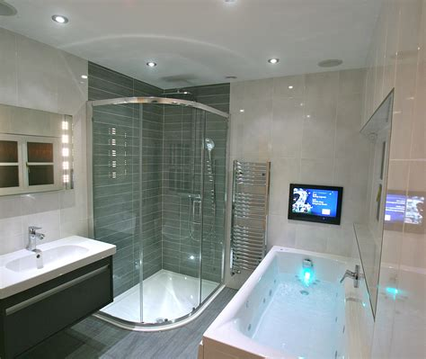 tv in a bathroom bathroom with tv and sonos new looks oxon