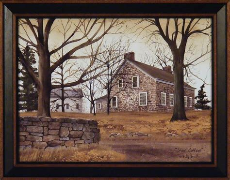 house prints stone cottage by billy jacobs 15x19 framed art print brick house country home ebay